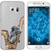 Samsung Galaxy S6 Edge Silicone Case vector animals M9