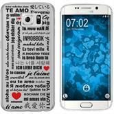 Samsung Galaxy S6 Edge Silikon-Hülle in Love  M4