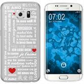Samsung Galaxy S6 Edge Silicone Case in Love M5
