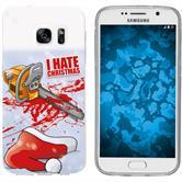 Samsung Galaxy S7 Silicone Case Christmas X Mas M8