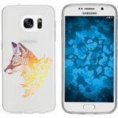 Samsung Galaxy S7 Silikon-Hülle Floral  M1-3