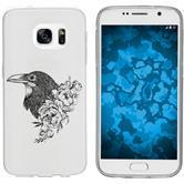Samsung Galaxy S7 Custodia in Silicone floral  M4-1