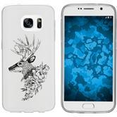 Samsung Galaxy S7 Silikon-Hülle Floral  M7-1