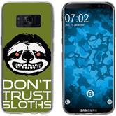 Samsung Galaxy S8 Plus Silicone Case Crazy Animals sloth M3