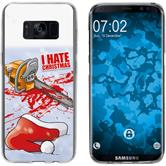 Samsung Galaxy S8 Plus Funda de silicona Navidad X Mas M8