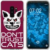 Samsung Galaxy S9 Plus Silicone Case Crazy Animals M1