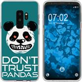 Samsung Galaxy S9 Plus Silicone Case Crazy Animals Panda M2