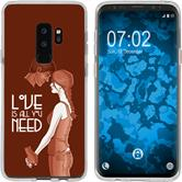 Samsung Galaxy S9 Plus Silicone Case in Love M3