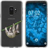 Samsung Galaxy S9 Silicone Case vector animals sloth M6