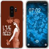 Samsung Galaxy S9 Silicone Case in Love M3