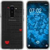 Samsung Galaxy S9 Silikon-Hülle in Love  M4