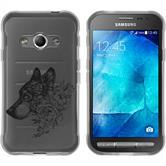 Samsung Galaxy Xcover 3 Silikon-Hülle Floral  M2-1