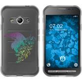 Samsung Galaxy Xcover 3 Silikon-Hülle Floral  M4-4