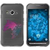 Samsung Galaxy Xcover 3 Silicone Case floral M5-6