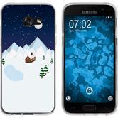 Samsung Galaxy A7 (2017) Silicone Case Christmas X Mas M6