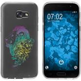Samsung Galaxy A5 2017 Custodia in Silicone floral  M6-4