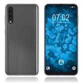 Coque en silicone Galaxy A50 transparent Crystal Clear + films de protection
