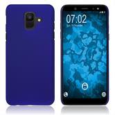 Hardcase Galaxy A6 (2018) rubberized blue Case