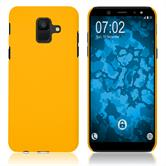Hardcase Galaxy A6 (2018) rubberized yellow Case