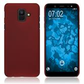 Hardcase Galaxy A6 (2018) rubberized red Case