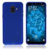 Silikon Hülle Galaxy A6 (2018) matt blau Case