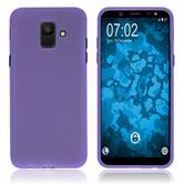 Silicone Case Galaxy A6 (2018) matt purple Case