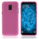 Silicone Case Galaxy A6 (2018) matt hot pink Case