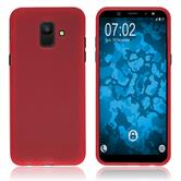 Silicone Case Galaxy A6 (2018) matt red Case