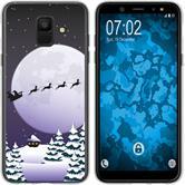 Samsung Galaxy A6 (2018) Silikon-Hülle X Mas Weihnachten  M5