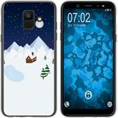 Samsung Galaxy A6 (2018) Silikon-Hülle X Mas Weihnachten  M6