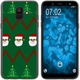 Samsung Galaxy A6 (2018) Silicone Case Christmas X Mas M7