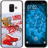 Samsung Galaxy A6 (2018) Silicone Case Christmas X Mas M8