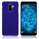 Hardcase Galaxy A6 Plus (2018) rubberized blue Case