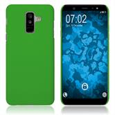 Hardcase Galaxy A6 Plus (2018) rubberized green Case