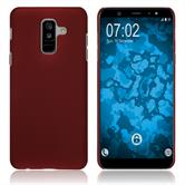 Hardcase Galaxy A6 Plus (2018) rubberized red Case