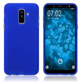 Silicone Case Galaxy A6 Plus (2018) matt blue Case