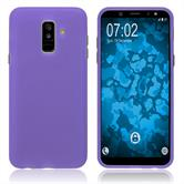 Silicone Case Galaxy A6 Plus (2018) matt purple Case