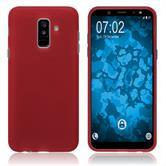 Silicone Case Galaxy A6 Plus (2018) matt red Case