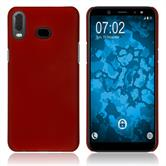 Silicone Case Galaxy A6s rubberized red Cover