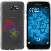 Samsung Galaxy A7 (2017) Funda de silicona floral zorro M1-5