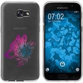 Samsung Galaxy A7 (2017) Funda de silicona floral M3-6