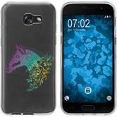 Samsung Galaxy A7 (2017) Silicone Case floral M5-4