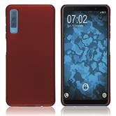 Hardcase Galaxy A7 (2018) rubberized red Cover