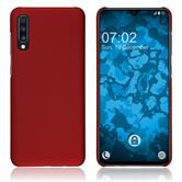 Silicone Case Galaxy A70 rubberized red Cover
