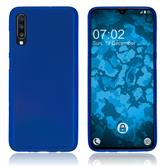 Silicone Case Galaxy A70 matt blue Cover