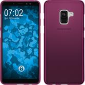Silikon Hülle Galaxy A8 (2018) Plus matt pink Case