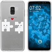 Samsung Galaxy A8 (2018) EU Version Silikon-Hülle in Love  M1