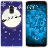 Samsung Galaxy A8 (2018) EU Version Silikon-Hülle X Mas Weihnachten  M4