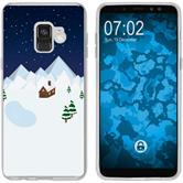 Samsung Galaxy A8 (2018) EU Version Silikon-Hülle X Mas Weihnachten  M6