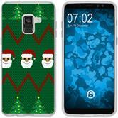 Samsung Galaxy A8 (2018) EU Version Silikon-Hülle X Mas Weihnachten  M7